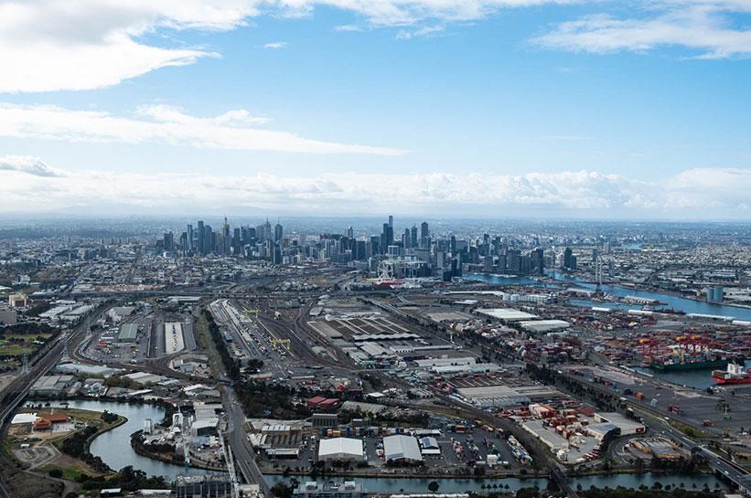 Melbourne von oben