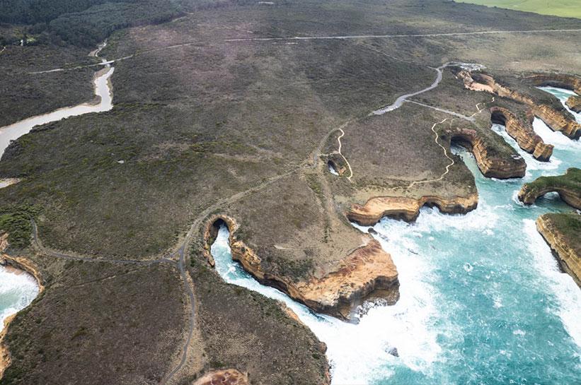 Küste auf dem Weg zu den Twelve Apostles