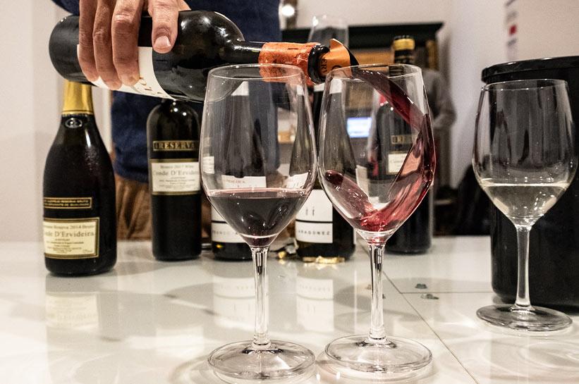 Evora Wein Verkostung