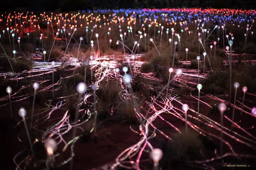 Field of Light Details der Lichtinstallation