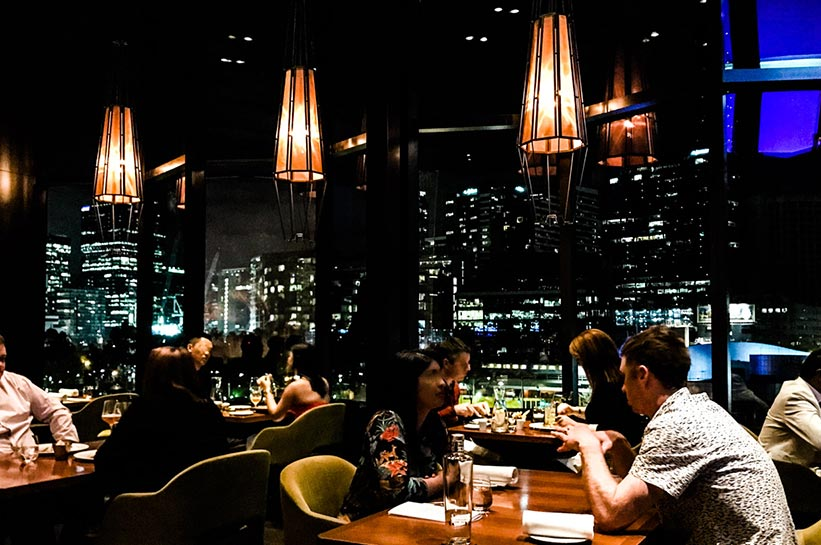Gourmetrestaurant Melbourne mit Skylineblick Crown Towers