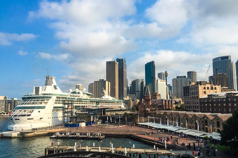 Blick vom Dach des Luxushotels in Sydney