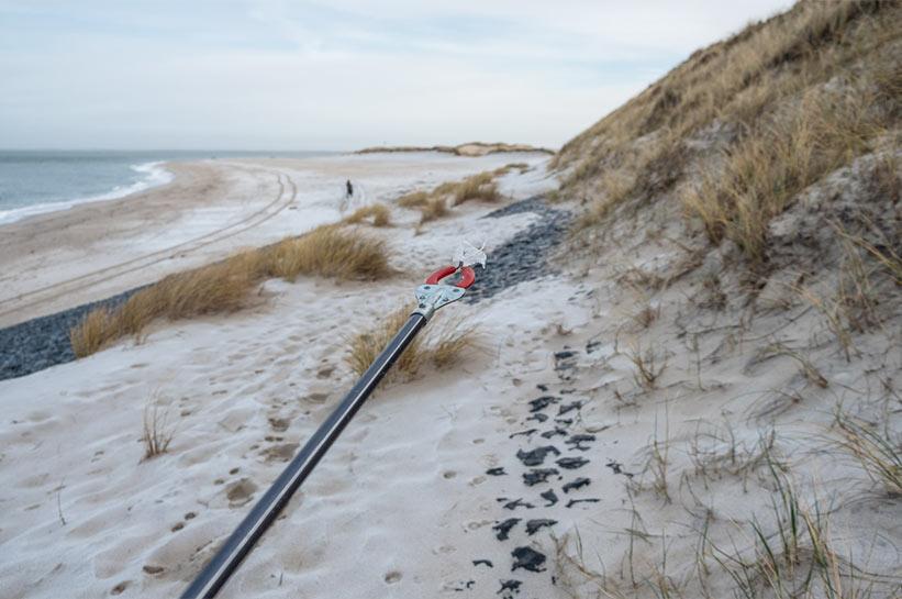 Müllgreifer Sylt Strandreinigung am Ellenbogen
