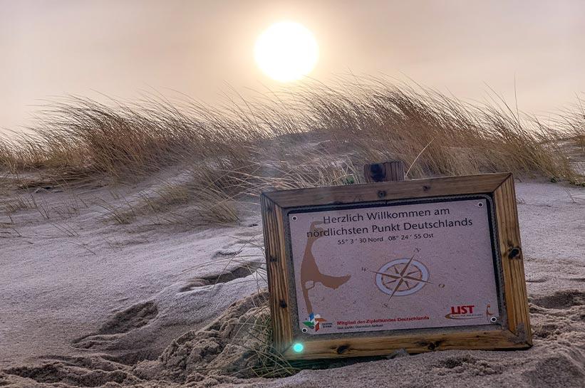 Der nördlichste Punkt Deutschlands Ellenbogen Sylt