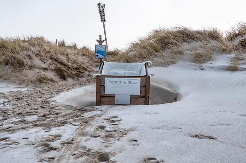 Strandmüllbox Sylt Ellenbogen