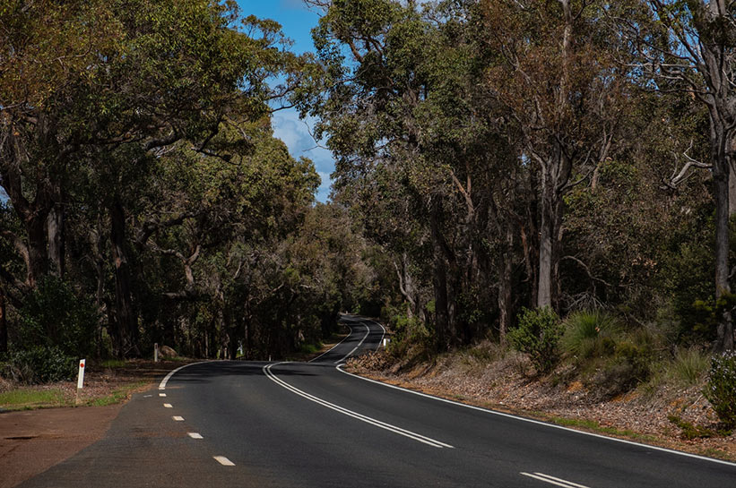 Cave Road in Margaret River