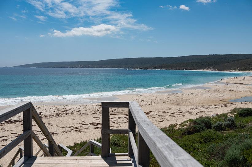 Zielpunkt der Wanderung Smith Beach Westaustralien