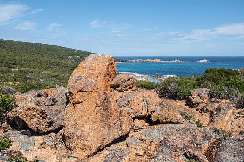 Felsen an den Küsten Westaustraliens