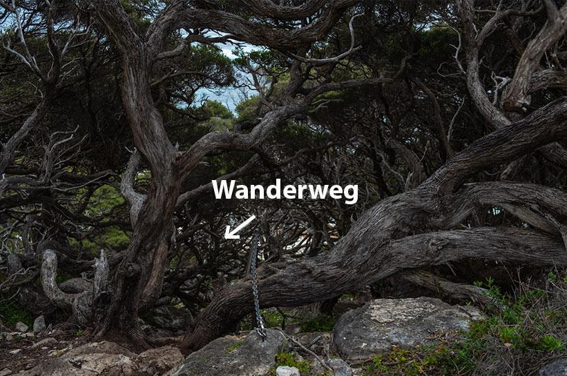 Gefährlicher Wanderweg in Westaustralien