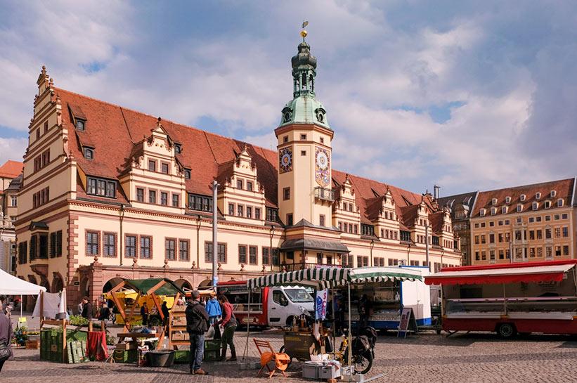 Altes Rathaus Leipzig und Markt
