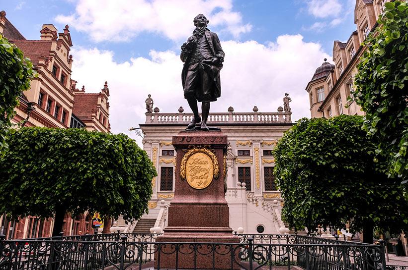 Goethe am Naschmarkt in leipzig