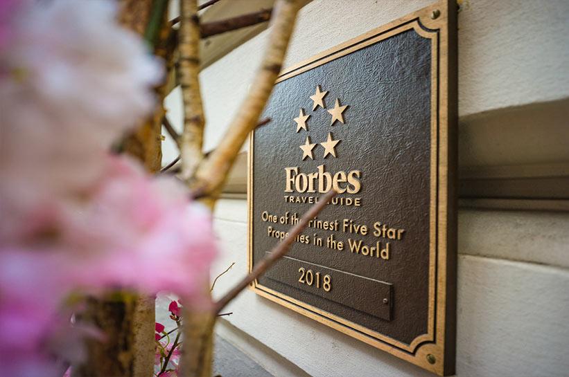 Auszeichnung Mandarin Oriental München Forbes 5 Sterne