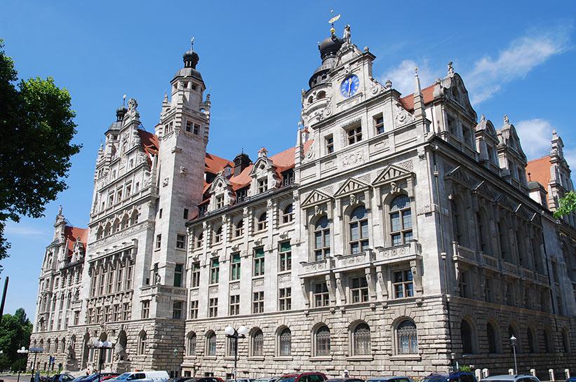 Eines der bekanntesten Gebäude Leipzigs: Das Rathaus