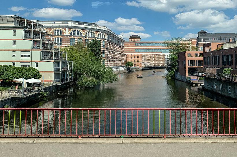 Plagwitz Brücken und Wasser