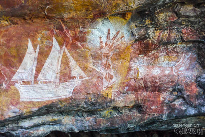 Felsenzeichnungen im Arnhemland im Outback