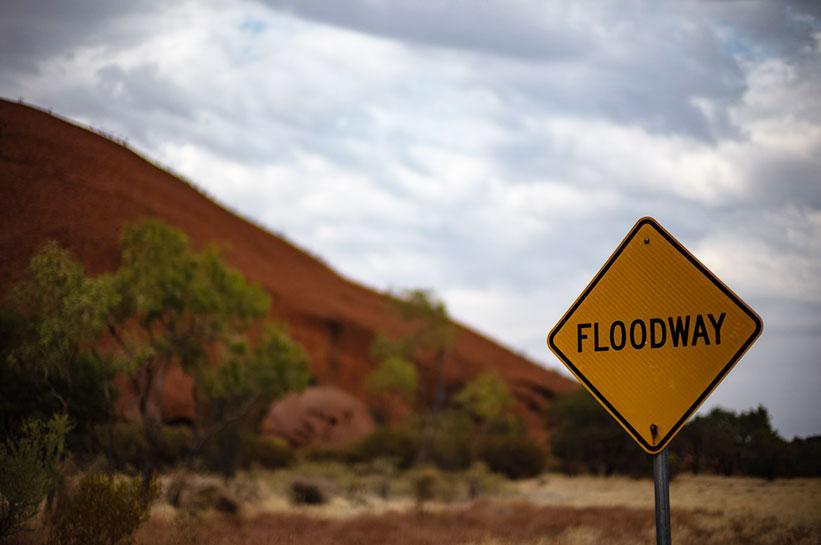 Outback Australien Wetter Flutgebiet