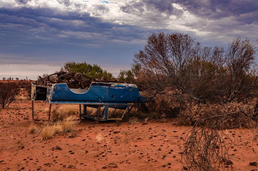 Gefahren im Outback Australien Autofahren
