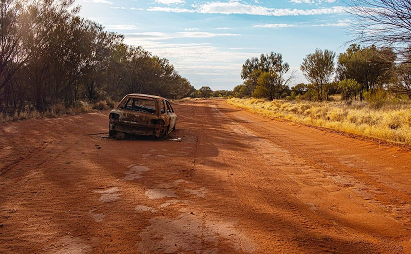 Autowrack im Outback Australien