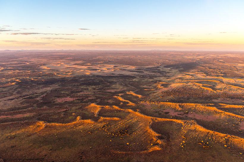 Outback Australien von oben
