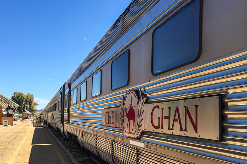 Outback Australien Zug The Ghan