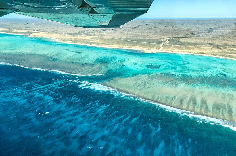 Ningaloo Reef Westaustralien von oben