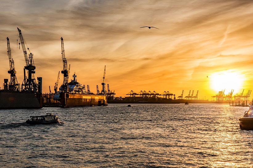 Sonnenuntergang Hamburg