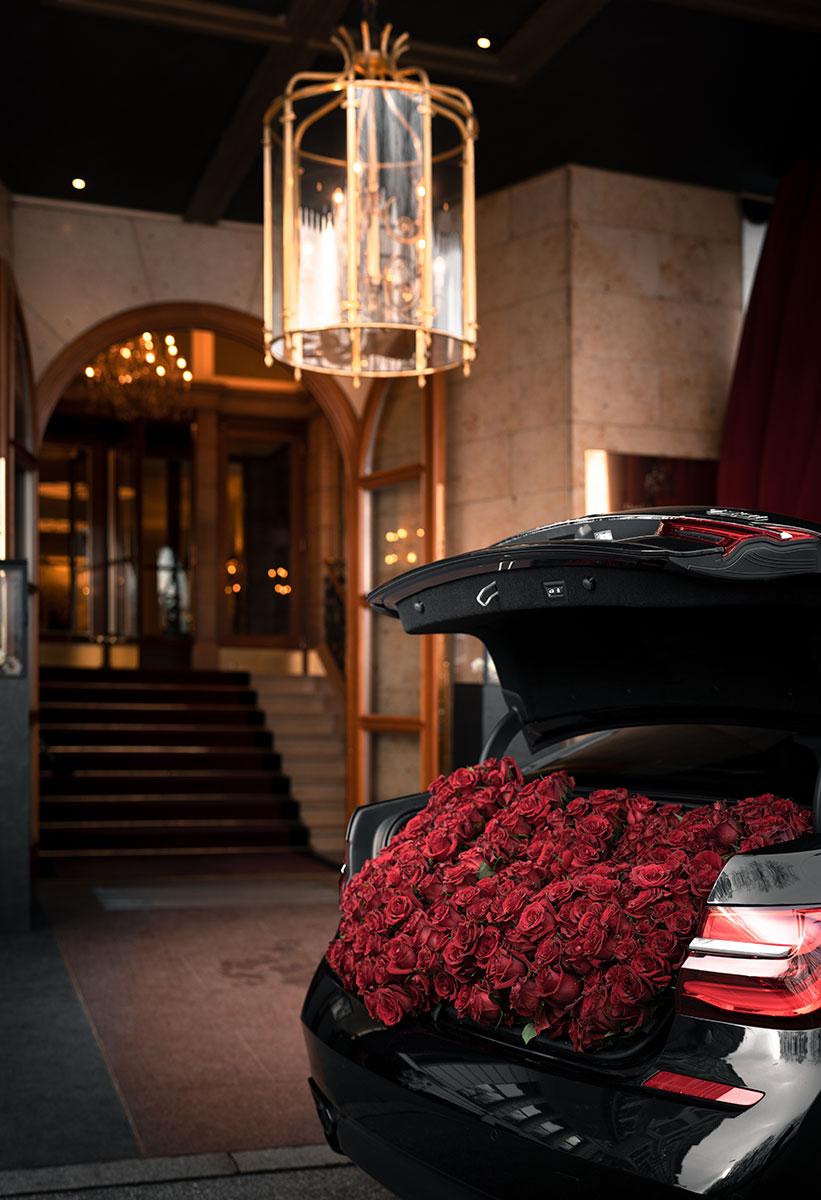 Valentinstag Rote Rosen Geschenk Hamburg Vier Jahreszeiten