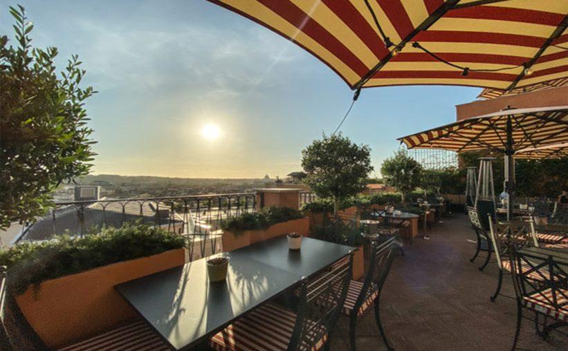 Rocco Forte Hotel de la Ville Dachterrasse in Rom