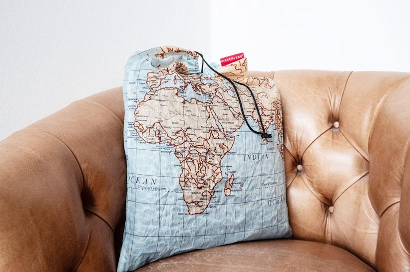 Wäschesack Weltkarte