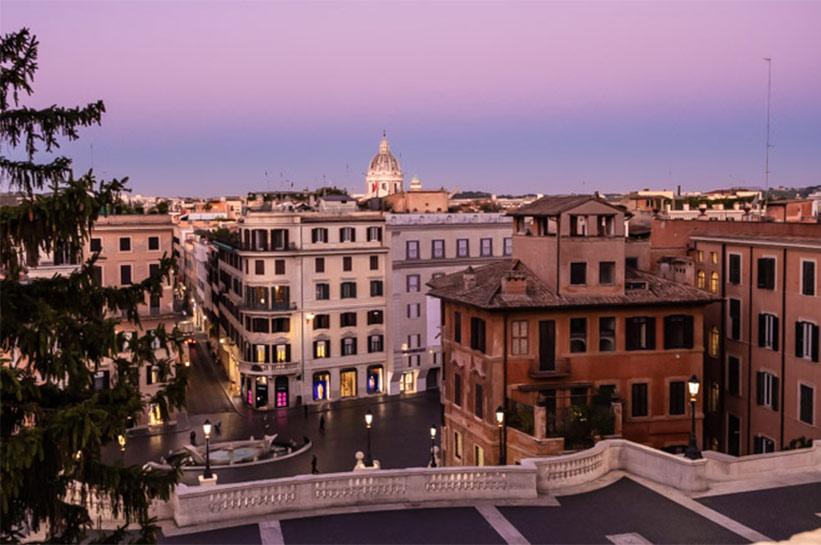 Rom am Morgen Spanische Treppe