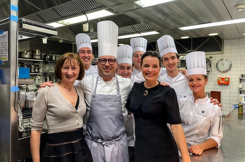Zwei Sterne Restaurant Pavillon Koch und Team