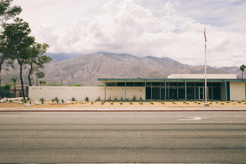 Palm Springs 2 Tage mit Kindern : Breite Straßen zum Roller fahren.