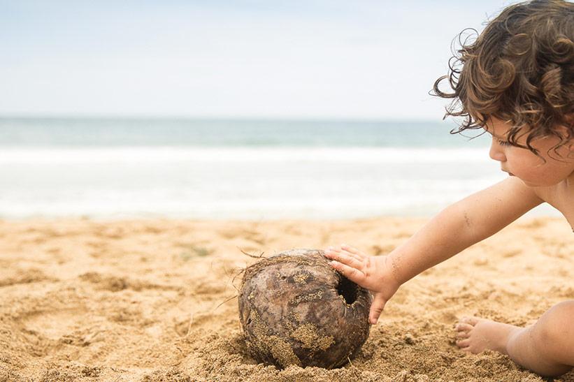Hawaii mit Kindern - am Strand
