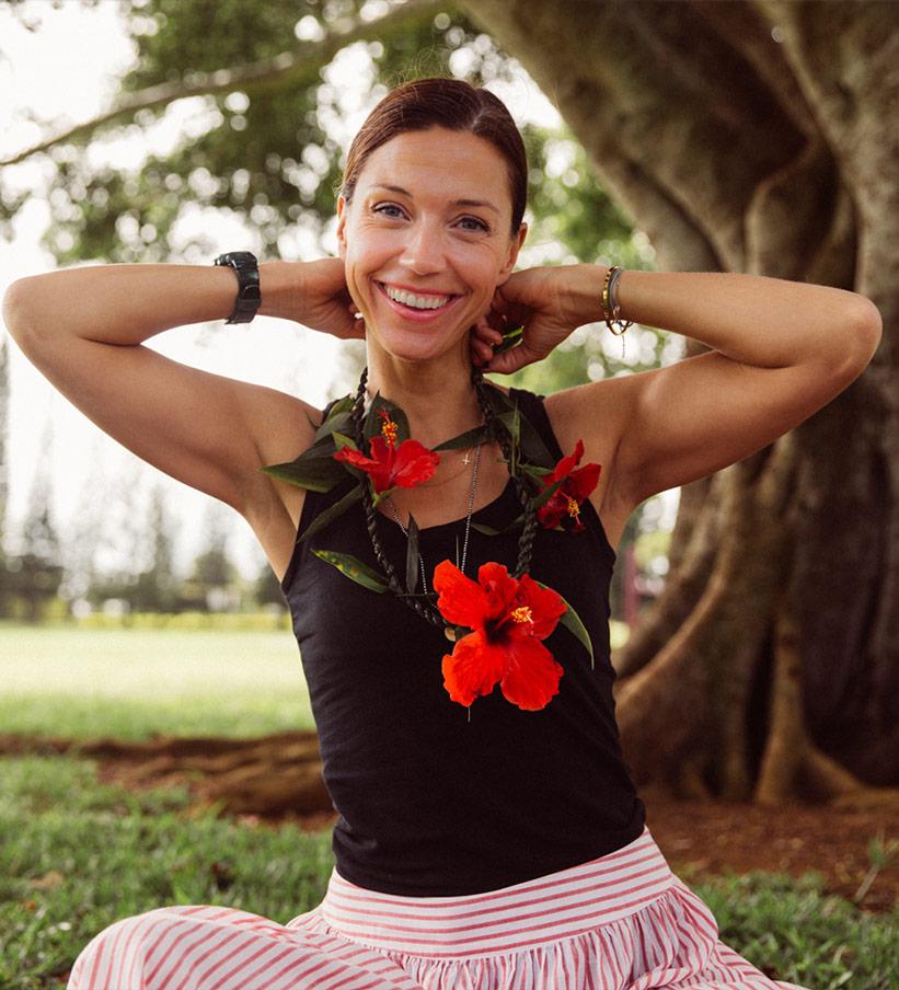 Große rote Blüten Ketten Hawaii