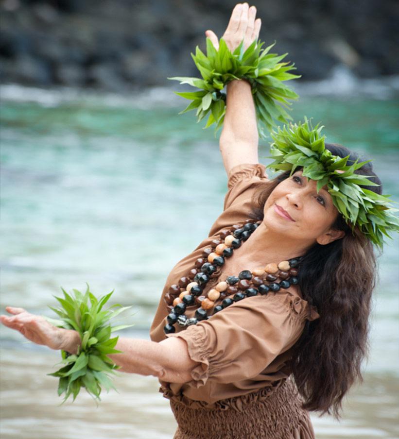 Hula Lehrerin auf Hawaii