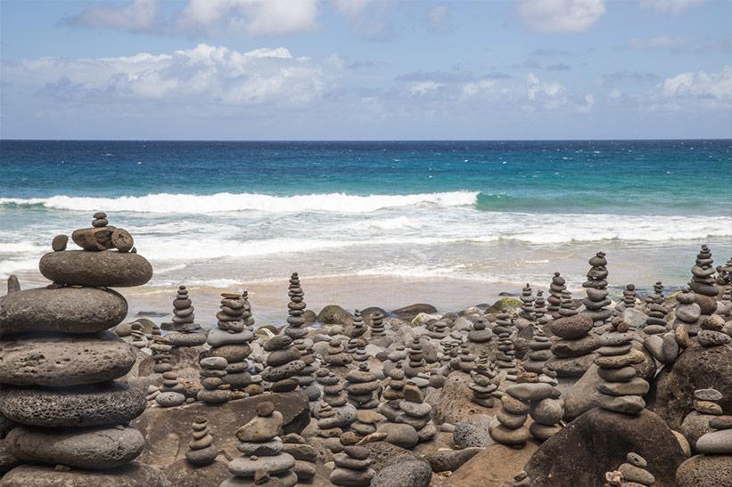 Hawaii Kauai Wanderung am Strand