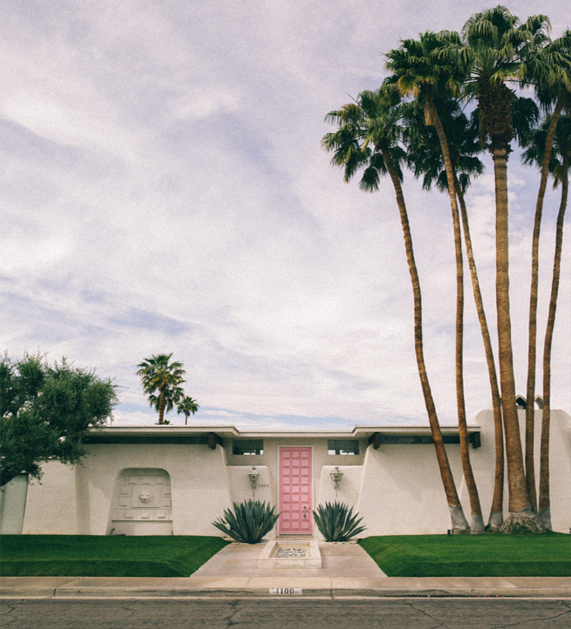 Palm Springs Kinder: Rosa Türe
