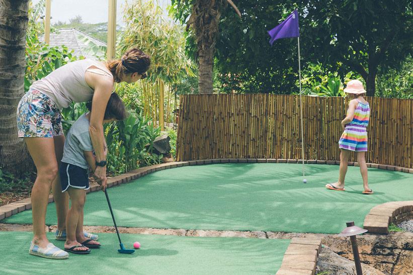 Minigolf für Familien auf Kauai