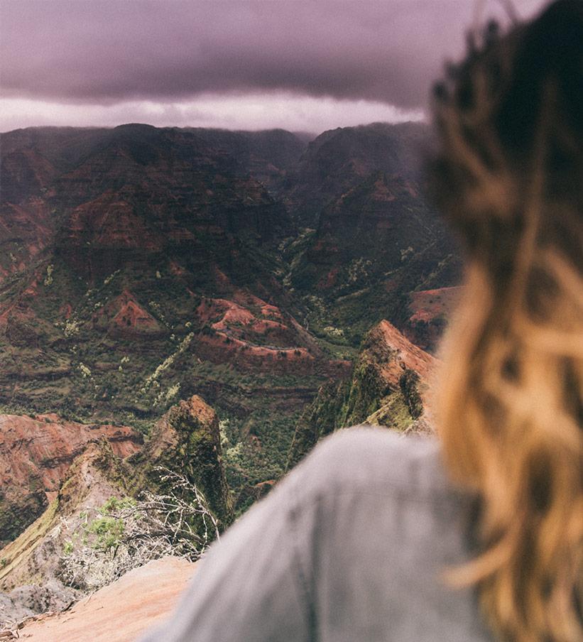 Blick über Waimea Canyon