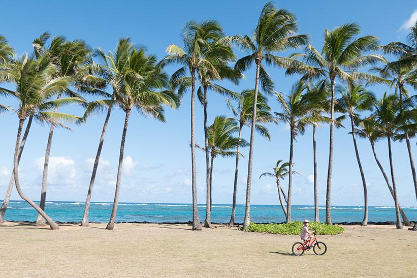Fahrradweg auf Kauai