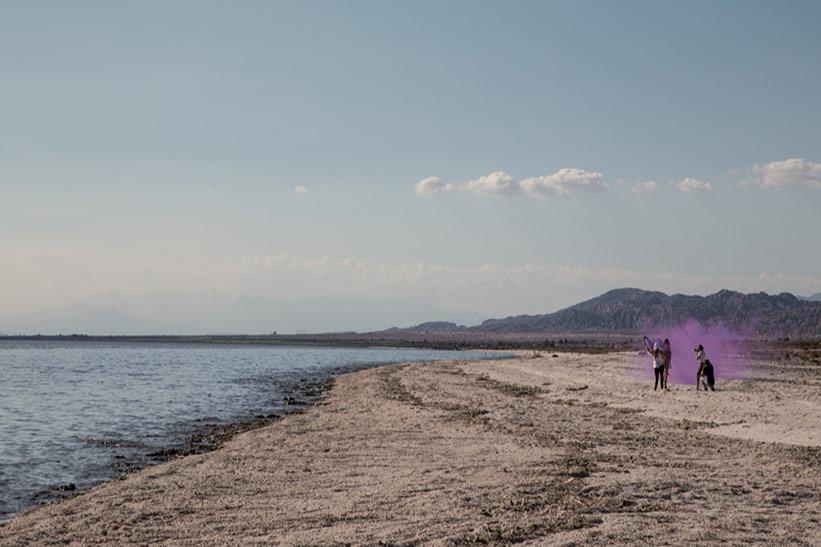 Salton Sea Strand am toten Sea