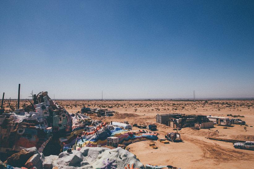 Salvation Mountain Wüste