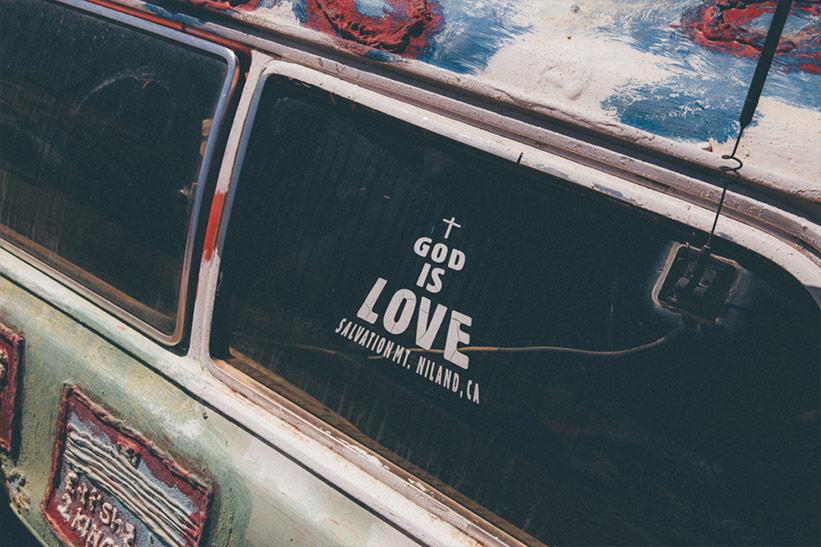 Gott ist Liebe Salvation Mountain
