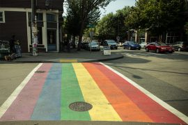 Regenbogen Zebrastreifen in Seattle