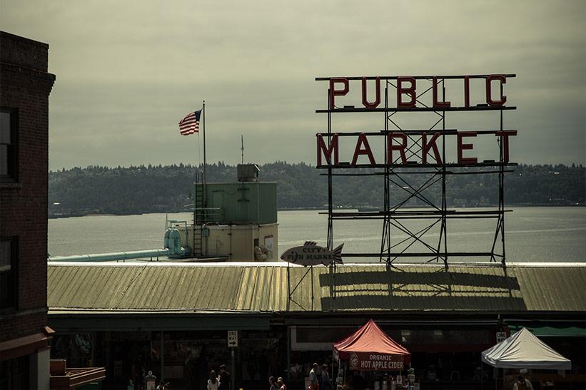 Seattle TippsPublic Market am Meer