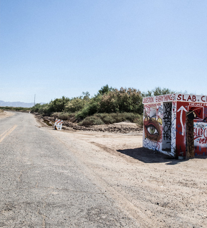 Slab City Eingangsstraße