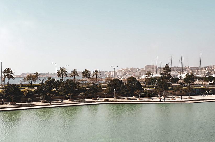 Palma Mallorca Blick auf Hafen