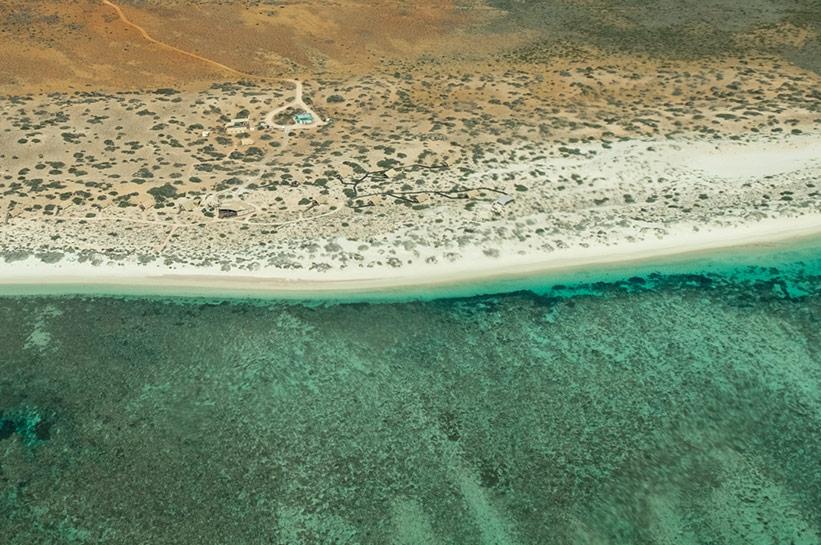 Sal Salis Safari Camp Ningaloo von oben