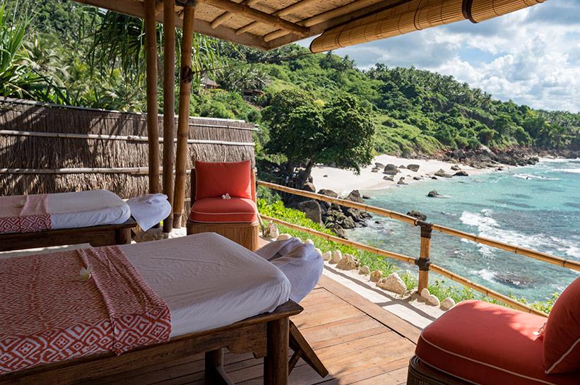 Nihi Sumba Spa mit Blick aufs Meer