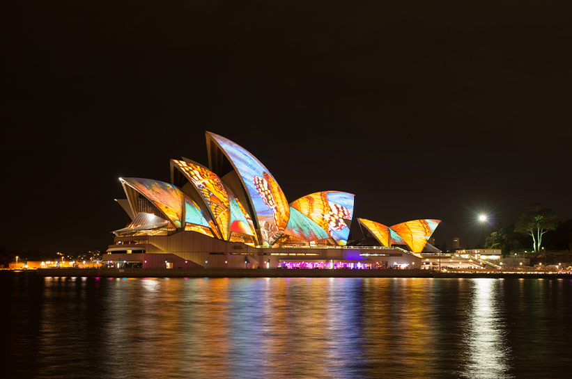 Vivid Sydney Opernhaus